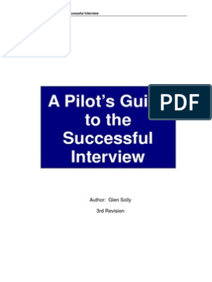 Pilots Guide to the successful interview | Pilot (Aeronautics