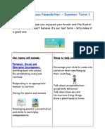 Reception Class Newsletter Summer 1 2015