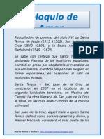 POEMAS DE LOS SANTOS - COLOQUIO DE AMOR