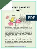 NO TENGO GANAS DE ORAR