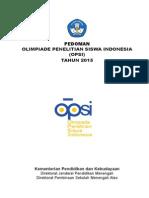 Pedoman OPSI 2015