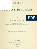 A.V. Dicey - Letters on Unionist Delusions