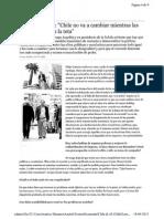 """""""Chile no va a cambiar mientras las élites no suelten la teta"""" - Entrevista a Felipe Lamarca"""