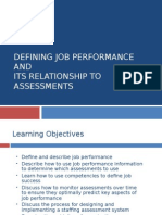 Defining Job Performance