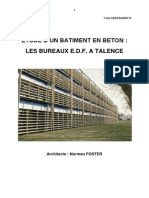 Etude d'Un Batiment en Beton - Les Bureaux Edf a Talence