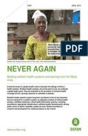 Never Again: Building resilient health systems and learning from the Ebola crisis