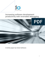 Increasing Software Development Productivity With Reversible Debugging