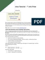 Awk Introduction Tutorial – 7 Awk Print