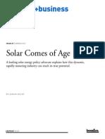 00105 Solar Comes of Age
