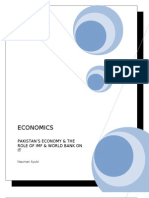 Pakistan's Economy and the Role of IMF and World Bank