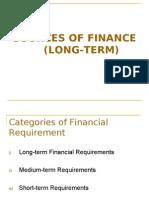 Long Term Source of Finance