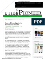Canrock Investigated in Investment Scandal