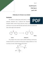 Organic - Lab 8 - Reduction