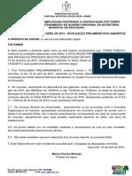 Edital 006 - Processo Seletivo 2015 - Divulgação Preliminar Dos Gabaritos