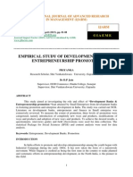 Empirical Study of Development Banks Entrepreneurship Promotion