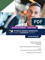 Informator 2015 - studia II stopnia - Wyższa Szkoła Bankowa w Chorzowie.pdf