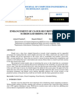 Enhancement of Cloud Security Through Scheduled Hiding of Data