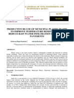 Productive Re-use of Municipal Plastic Waste to Improve Temperature Resistance and Reduce Rain Water Infiltration in Flexible Pavements