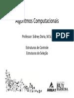 Algoritmos A5 EstruturasDeControle EstruturaDeSelecao (1)