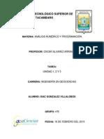 Analisis Numerico. Isac Gonzalez Villalobos