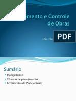 Planejamento e Controle de Obras