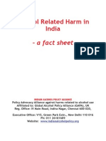 Alcohol Related Harm in India a Fact Sheet
