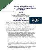 Legislación de Incentivos Para El Desarrollo Turístico en La República de Panamá