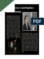 Notas Curriculares de Isabel Magalhães e de João Aníbal Henriques