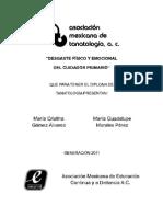 Manual de Desgaste Fisico y Emocional Del Cuidador Primario