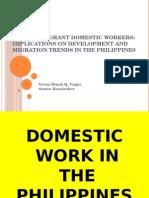 Filipino Migrant Domestic Workers