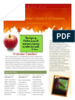 miss robinson - welcome newsletter