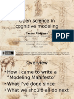 Open science in cognitive modeling
