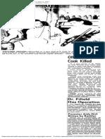 Officer Shot, Cook Killed - Panek Article - 04 11 1947