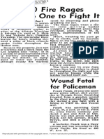 Wound Fatal for Policeman - Panek Article - 04 15 1947