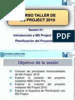 01. Curso Taller de MS Project 2010 - Introducción a MS Project 2010 - Planificación Del Proyecto (I)