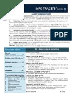 Info-TRACEESS Numéro 30, le 14 avril 2015