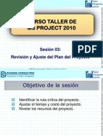 03. Curso Taller de MS Project 2010 - Revision y Ajuste Del Plan Del Proyecto