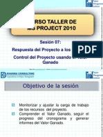 07. Curso Taller de MS Project 2010 - Control Del Proyecto Usando El Valor Ganado