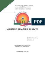 Historia de La Radio en Bolivia