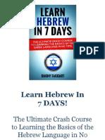 Hebraico Em 7 Dias