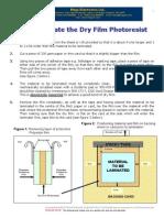 5180 Data Sheet Dry Film Photoresist (How to Laminate)