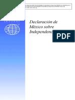 Declaracíon del México