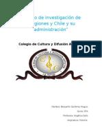Trabajo de Investigación de Regiones de Chile