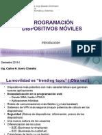 Programacion Dispositivos Moviles - Clase 01