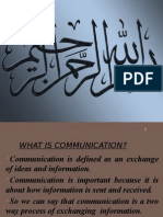 Channles of Communication