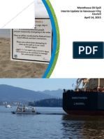 English Bay Oil Spill - Report by Vancouver City Manager, April 14 2015