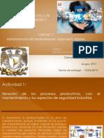 iNTERACCION DEL PROCESO PRODUCTIVO, EL MANTENIMIENTO Y SEGURIDAD INDUSTRIAL