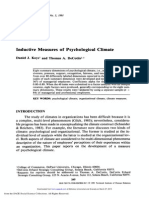 Inductive measures of psychological climate