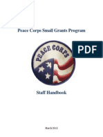 Peace Corps Small Grants Staff Handbook 3-30-2015