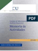 Memoria 2014 de la Unidad de Inteligencia y Análisis Financiero